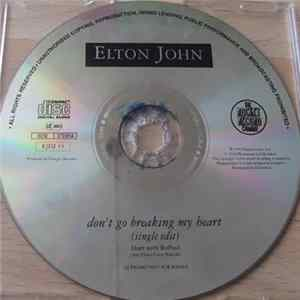 Elton John Duet With RuPaul - Don't Go Breaking My Heart Album